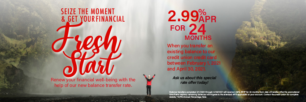 Balance Transfer 2.99% APR for 24 months